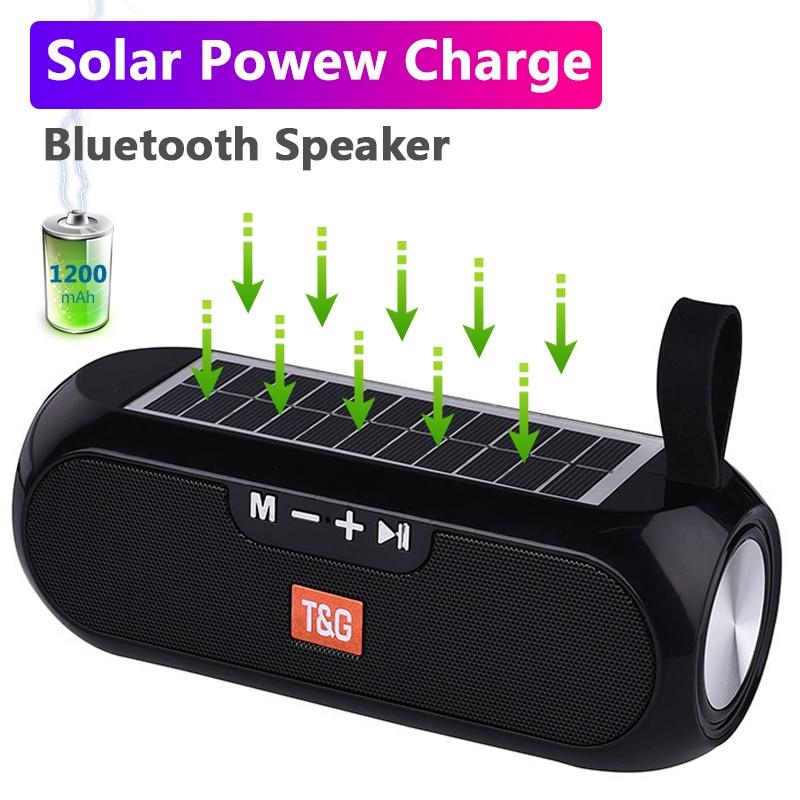 Altavoz Bluetooth con carga Solar, columna portátil, radio fm, caja de música...