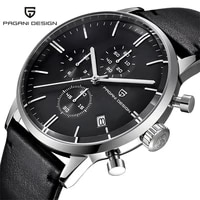 pagani design 2720 mens watches luxury waterproof 30m genuine leather japanese vk67 movement quartz watch relogio masculino