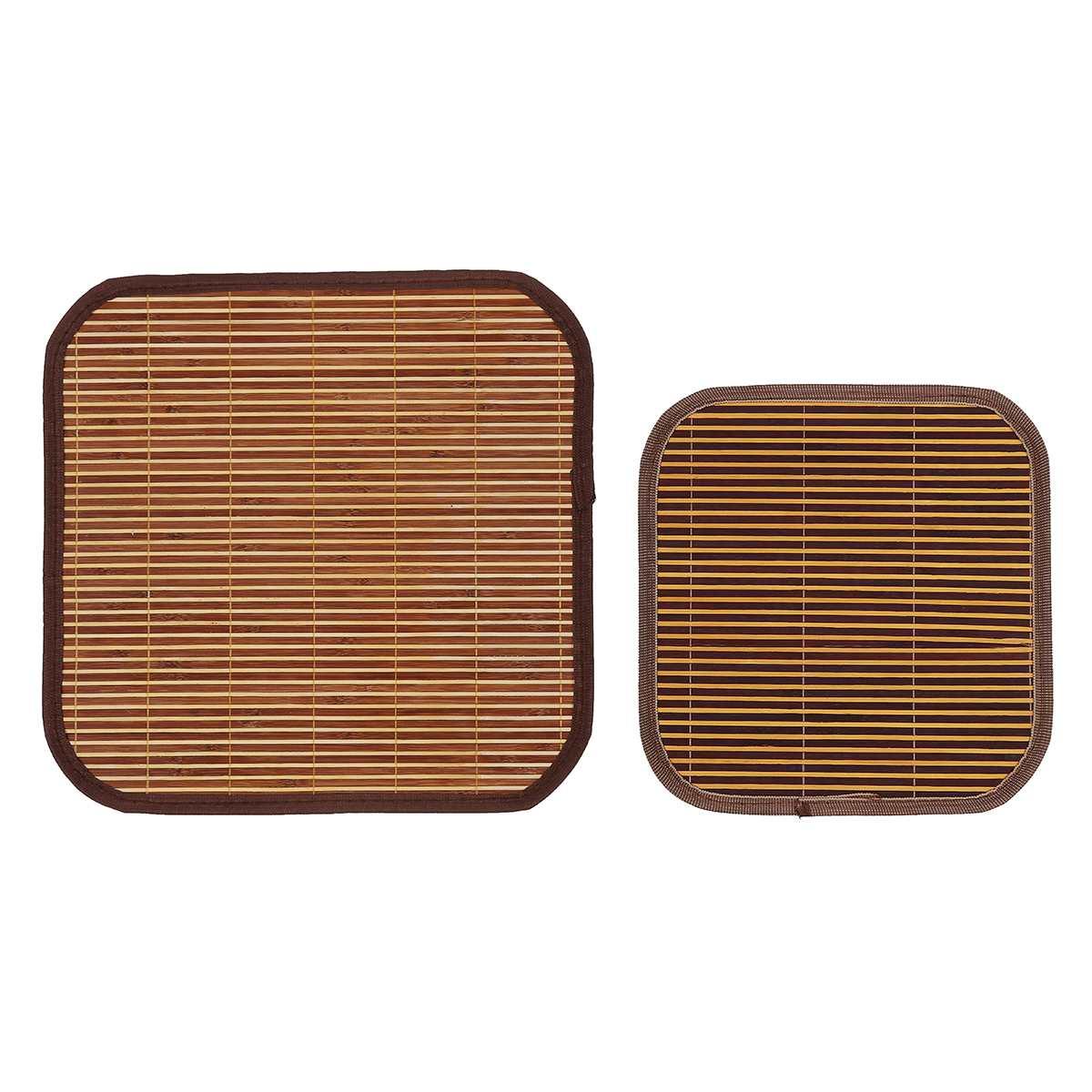Cojines de bambú cuadrado para asiento de verano Natural, aislamiento térmico, almohadilla de refrigeración transpirable, cojín para silla, cojín para coche, hogar, oficina, silla