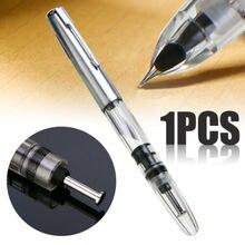 Aile Sung 601 vide Transparent clair stylo plume Piston Type Fine plume argent pince papeterie bureau fournitures scolaires
