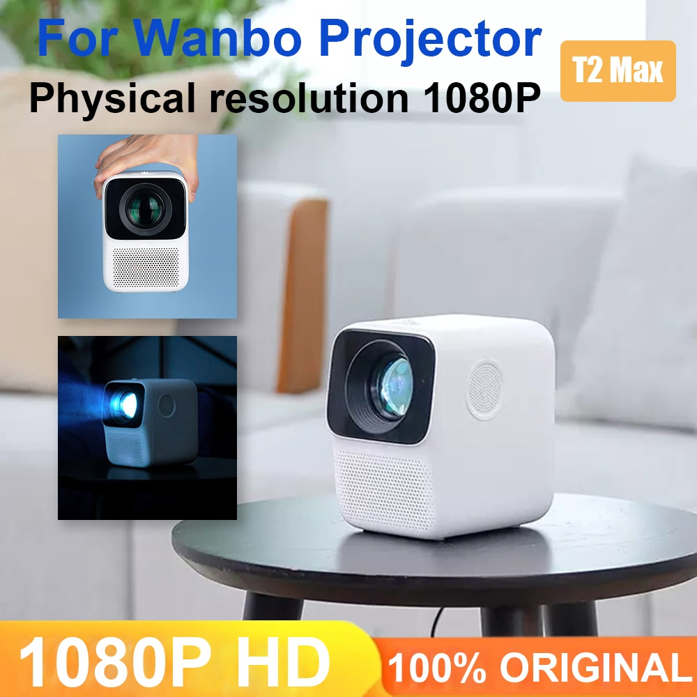 جهاز عرض ذكي ماكس LCD LED 1080P الأفقي تصحيح عمودي 4K USB المحمولة جهاز عرض صغير المسرح المنزلي نظام أندرويد
