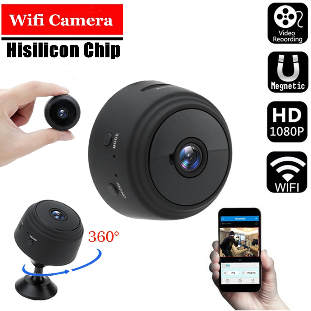 A9 1080P Wifi Mini Kamera, Home Security P2P Kamera WiFi, Nachtsicht Drahtlose Überwachungs Kamera, remote Monitor Telefon App