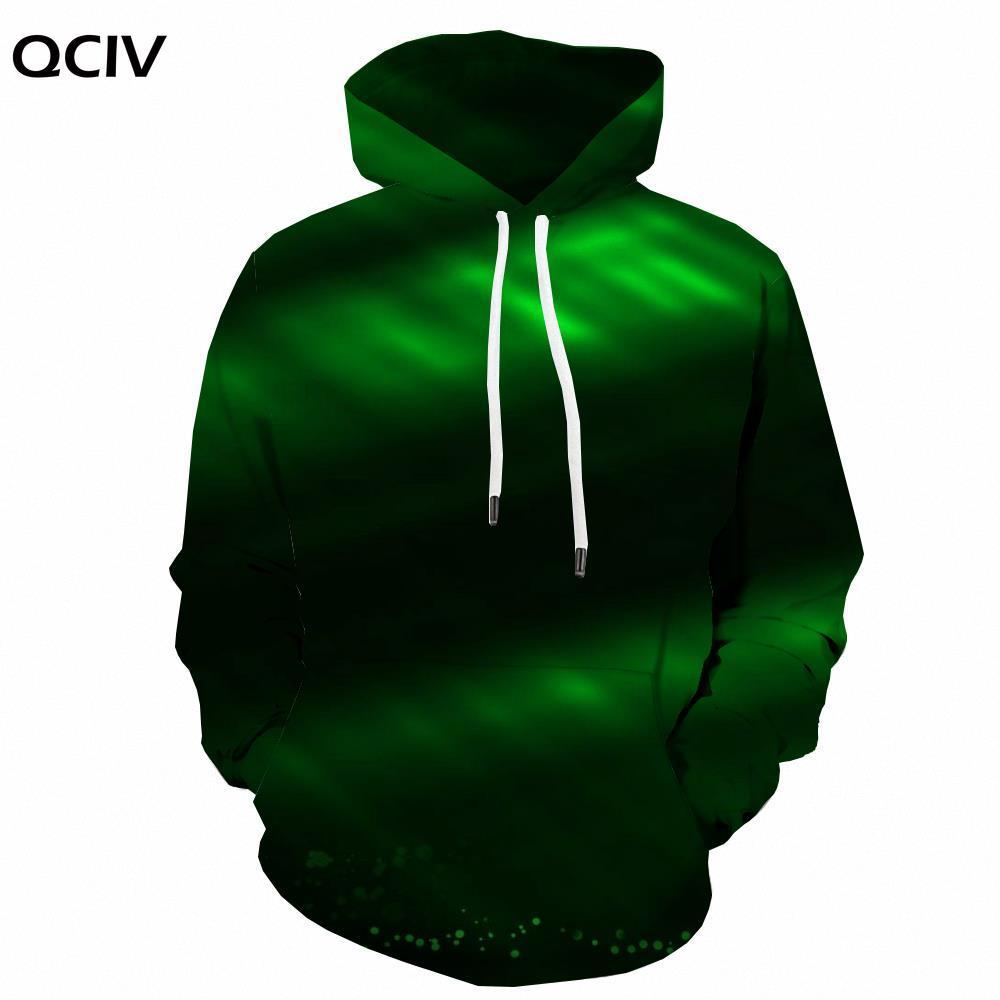 QCIV рождественские свитшоты, мужские зеленые 3d печатные узоры с капюшоном, повседневные Забавные Зимние Модные свитшоты с длинным рукавом