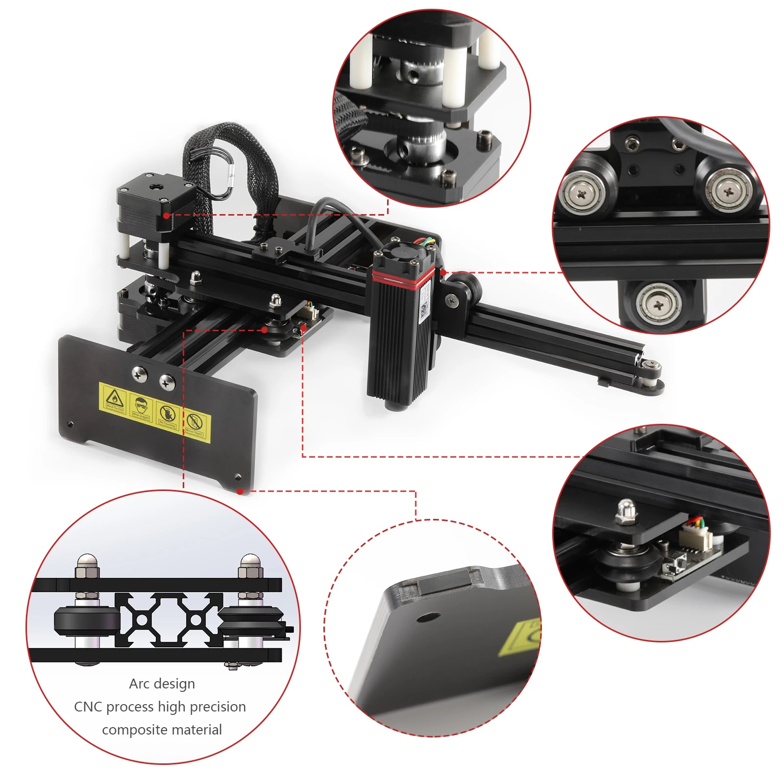 NEJE Master 2s N30820 30W CNC Wood Laser Engraver Cutter Engraving Cutting Machine Router Printer Bluetooth Benbox, LaserGRBL enlarge