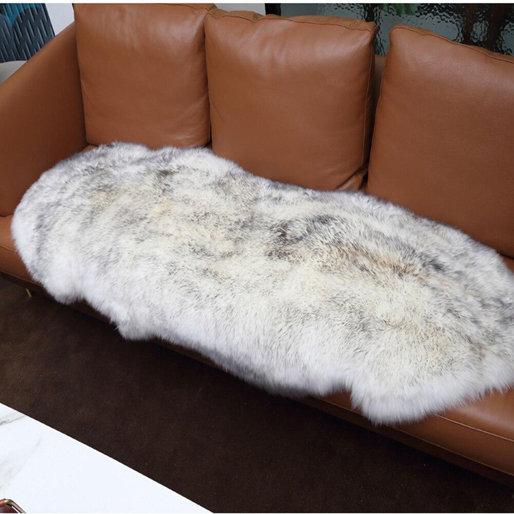 سجادة من الفرو الصناعي ، بطانية أريكة من جلد الغنم الصناعي ، غطاء مقعد مشعر دافئ لغرفة النوم
