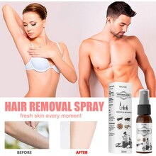 30ml Eelhoe Hair Growth Removal Inhibitor Spray Hair Removal Spray Beard Intimate Legs Body Armpit P