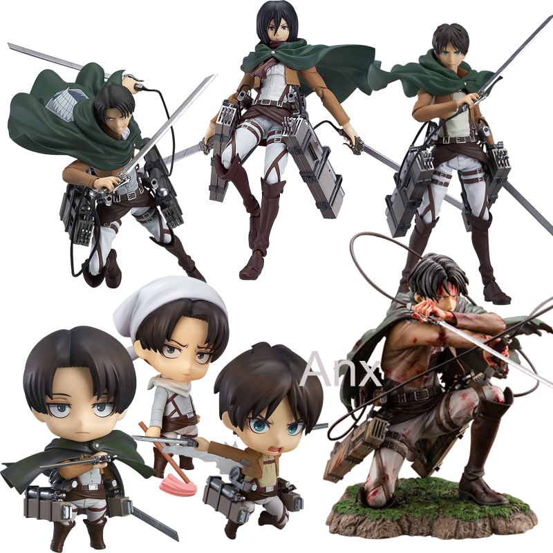 AliExpress - 18cm Attack on Titan Figure Rival Ackerman Action Figure Package Ver.  Levi PVC Action Figure Rivaille Collection Model Toys