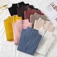 s xl woman sweater autumn and winter short zipper turtleneck sweater long sleeve women sweaters pullovers women knitted jacket