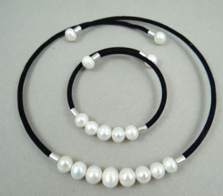 Colar de pérolas brancas para fazer pulseira, colar de pérolas brancas e naturais de quartzo, água doce, 100%