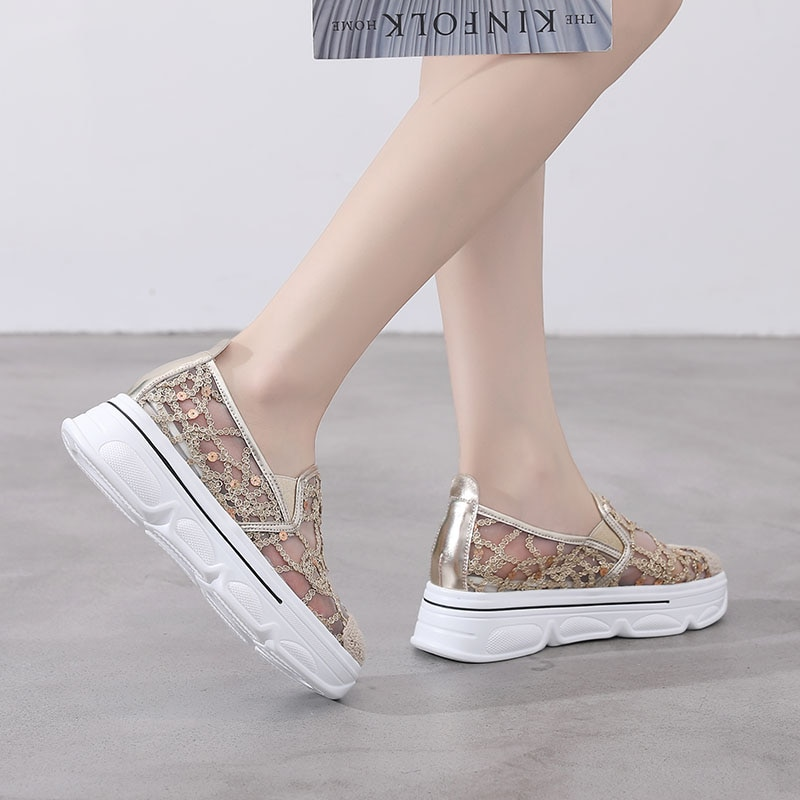 Women Flats Loafers Shallow,off Glitter Shoes,Shinestones Sneakers,Casual,Comfort,Woven,Breathable,R