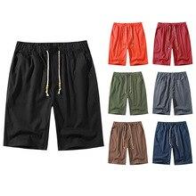 2021 Summer Men Line Beach Shorts Male Plus Size Solid Men Sports Jogging Fitness Shorts For Men