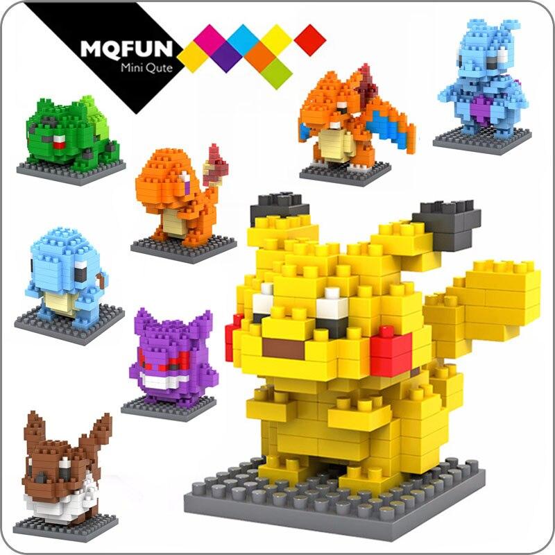 LOZ bloques de diamantes Micro píxeles Japón Anime dibujos animados Pikachu ladrillos montaje de construcción figura de acción juguete educativo niños regalo