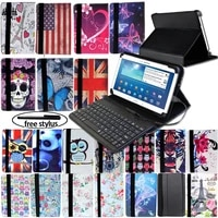 foldable leather tablet stand folio cover case wired keyboard suitable for samsung galaxy tab ass2s5e tablet protective case
