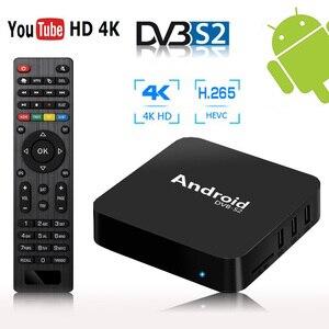 Android спутниковый ТВ-приемник тюнер dvb s2 H265 ТВ-приставка sks iks декодер iptv приемники спутникового ТВ 4k медиаплеер