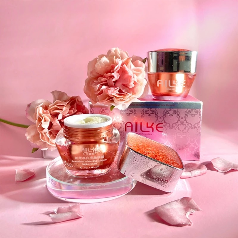 Face Cream Moisturizing Anti-Wrinkle Anti-Aging Oil-Control Fade Fine Lines Whitening Lift Rose Extract Skin Care Set 25g*2pcs