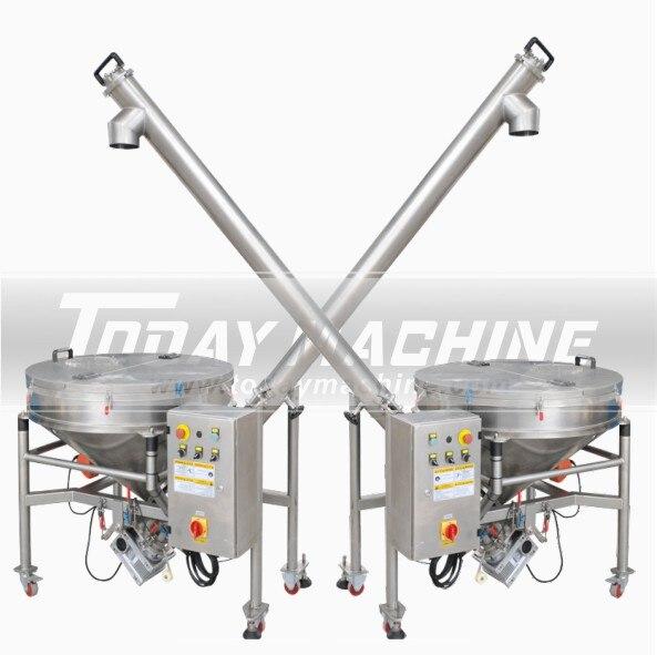 Transportador de polvo en espiral sinfín de acero inoxidable, transportador de tornillo de fábrica