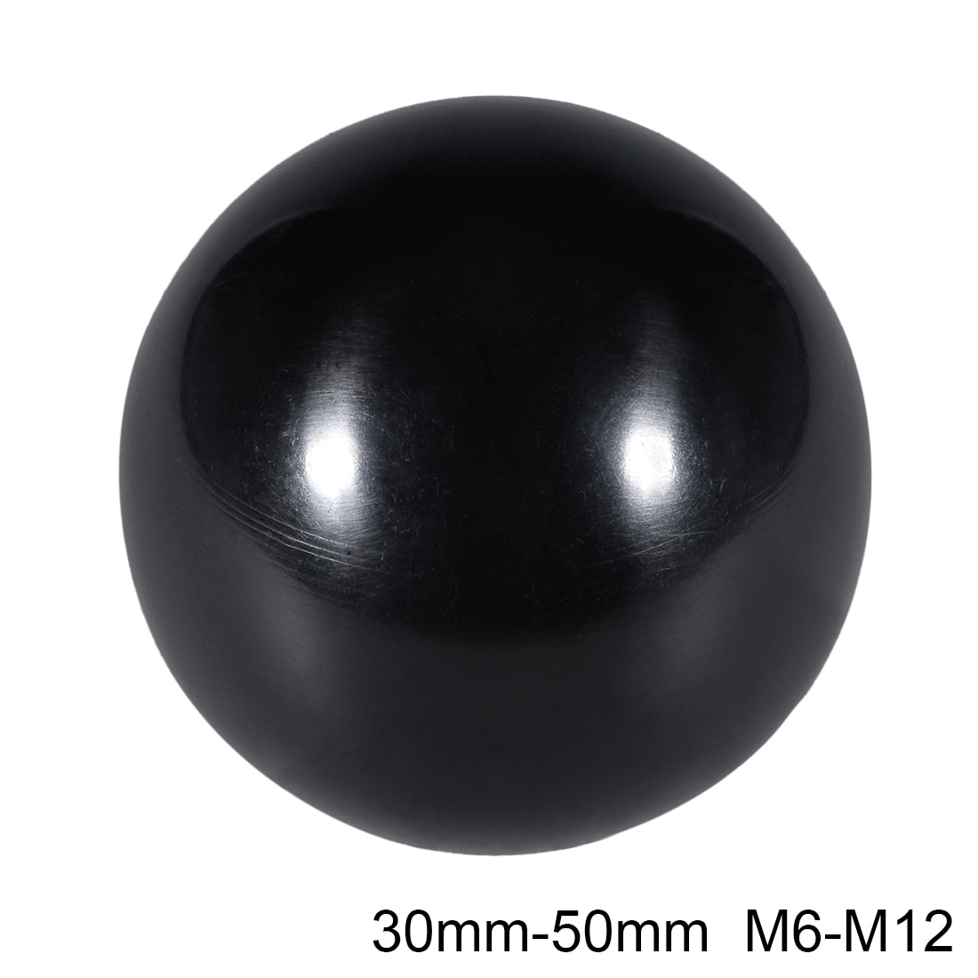Uxcell 4 Uds Thermoset perilla de bola M8/M10/M12 manija de la máquina de hilo femenino 30/32/35/40/50mm de diámetro borde liso negro