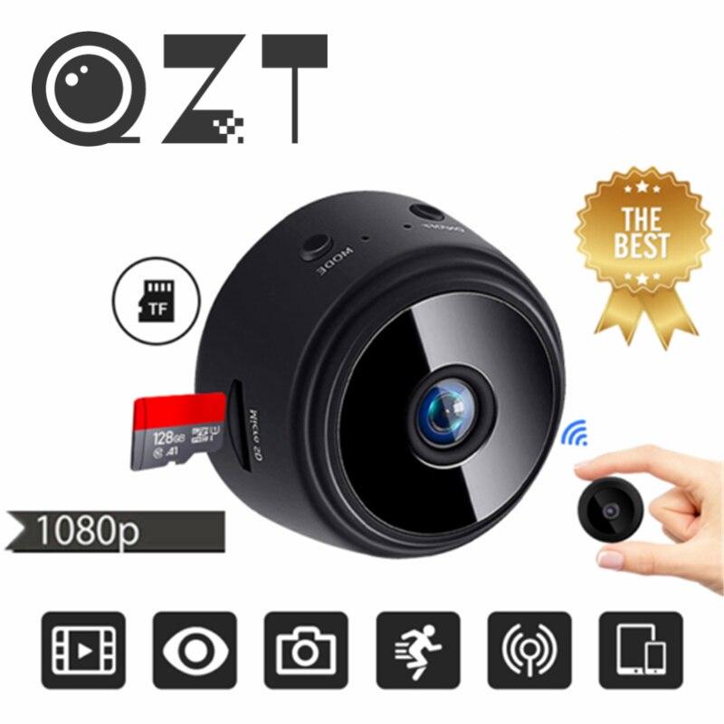 Qzt mini câmera wi fi sem fio micro câmera srect completa hd 1080p mini câmera ip dvr camcorder câmera de vídeo pequena para segurança em casa