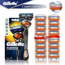 Safety Razor Gillette Fusion 5 Proglide Straight Shaver For Men Shaving Machine With Blades Shave Ca