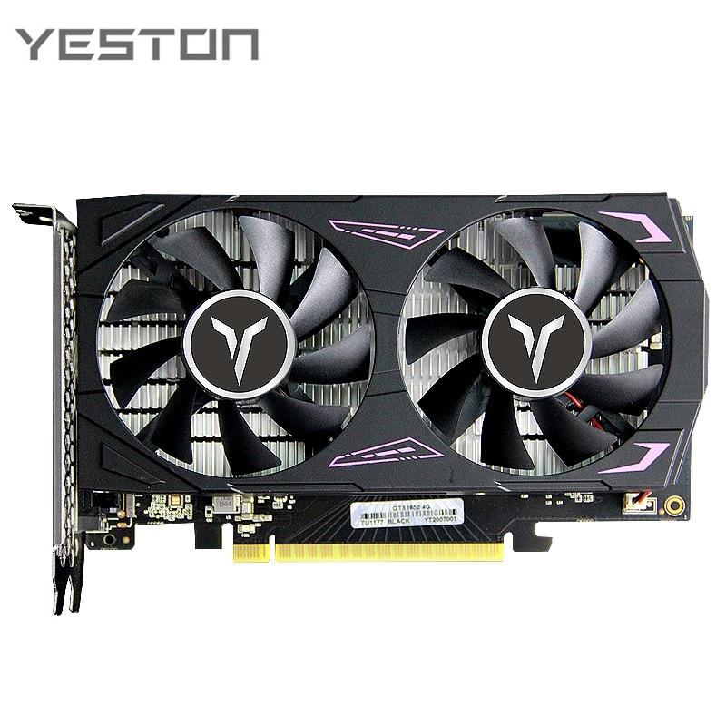 Yeston GTX1650-4G D6 GA Graphics Card 4gb 1050Ti 128bit/GDDR6 1410/1590MHz DVI-D+HDMI-Compatible+DP