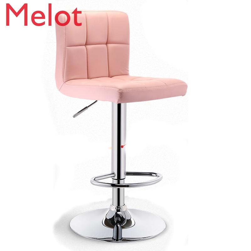 Лидер продаж, барный стул, Подъемные Инструменты, современный минималистичный высокий стул с спинкой из ПУ, барные стулья, современные барн...