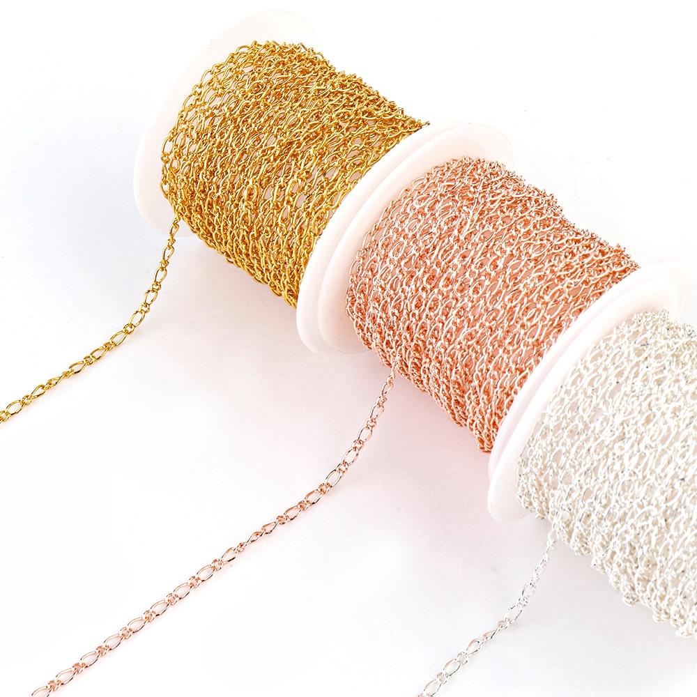 5 м/лот, стальная цветная круглая цепь, витая цепь, браслет бижутерия ручной работы, ожерелье, сделай сам, сумки для изготовления, оптом