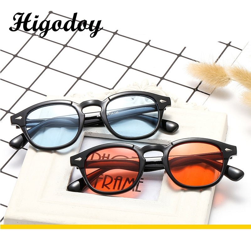 Солнечные очки Higodoy в стиле ретро для мужчин и женщин, роскошные брендовые круглые пластиковые винтажные зеркальные солнечные очки Uv400