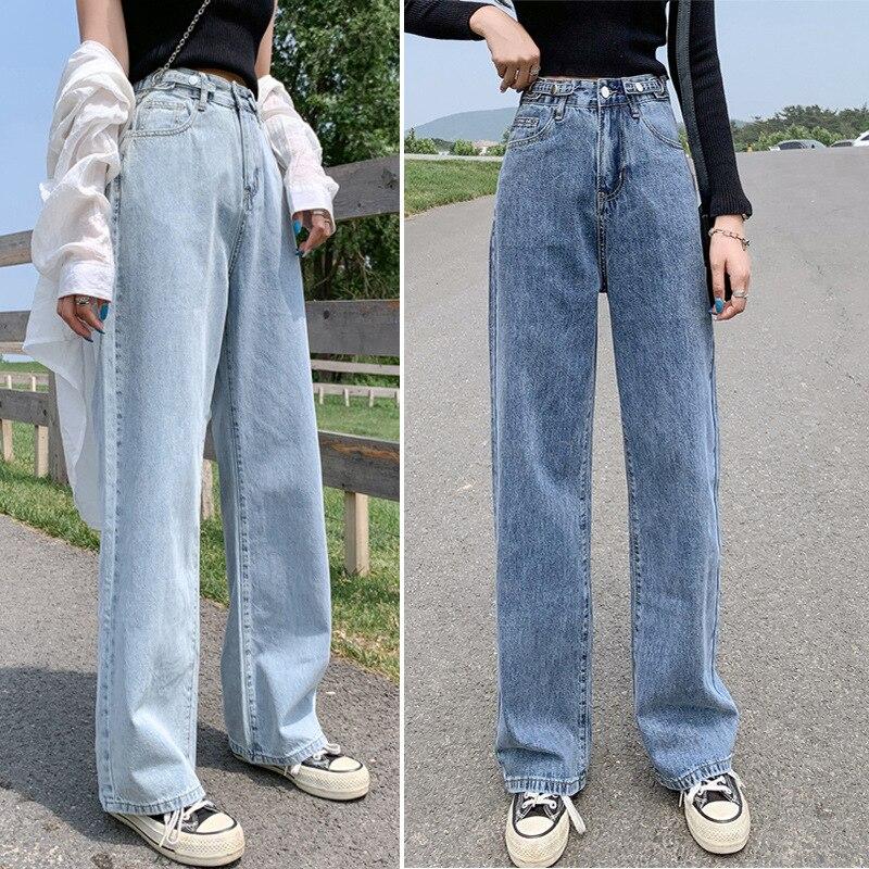 High Waist Wide Leg Fashion Straight Pants Woman Retro Casual Loose Comfortable Straight Pants Summe