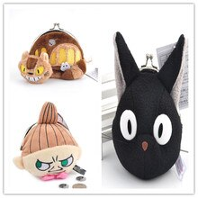 3 Style Japan Anime Kikis Delivery Service Jiji Cat Bus Multi-functional Iron Buckle Plush Bag Cute Cartoon Totoro Coin Purse