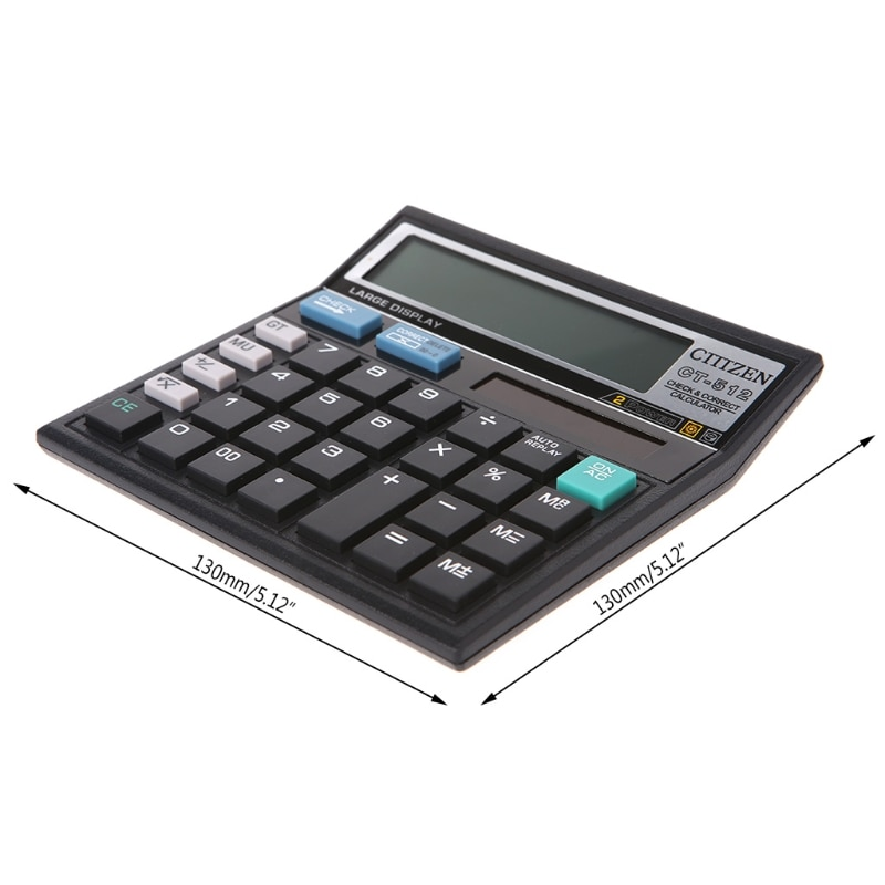 portable solar powered calculator screen 12 digit large lcd display for office daily use lhb99 12-Digit Display Scientific Calculator Solar Battery Dual Power Large Display Office Desktop Calculator