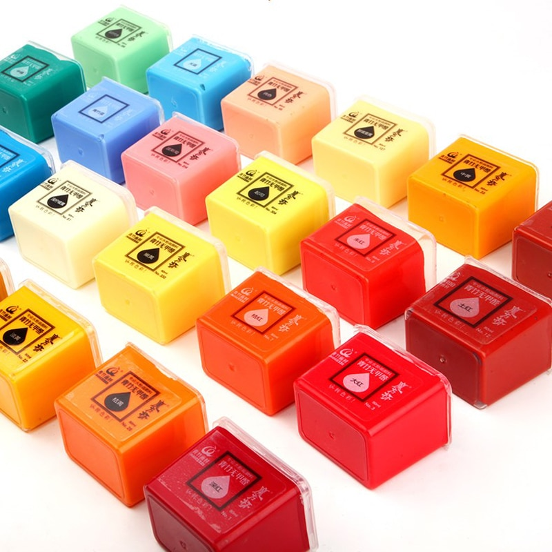 Gouache Single Cube Cup Jelly Paint 80ml Set 24 Colors for Art Students Only Refill Beginner himi gouache gouache paint gouache