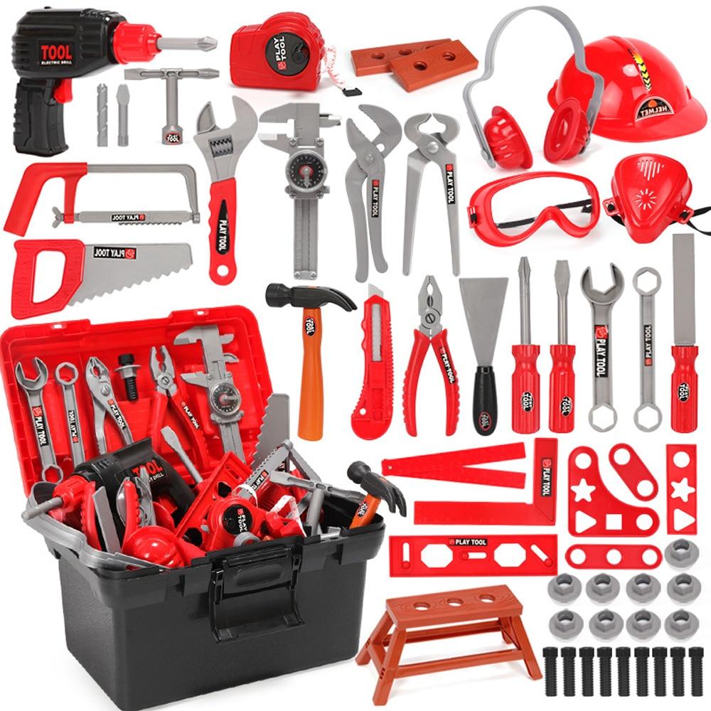 Childrens Toolbox Set Pretend Play Repair Tool Toys Simulation Drill Screwdriver Kit Kids House