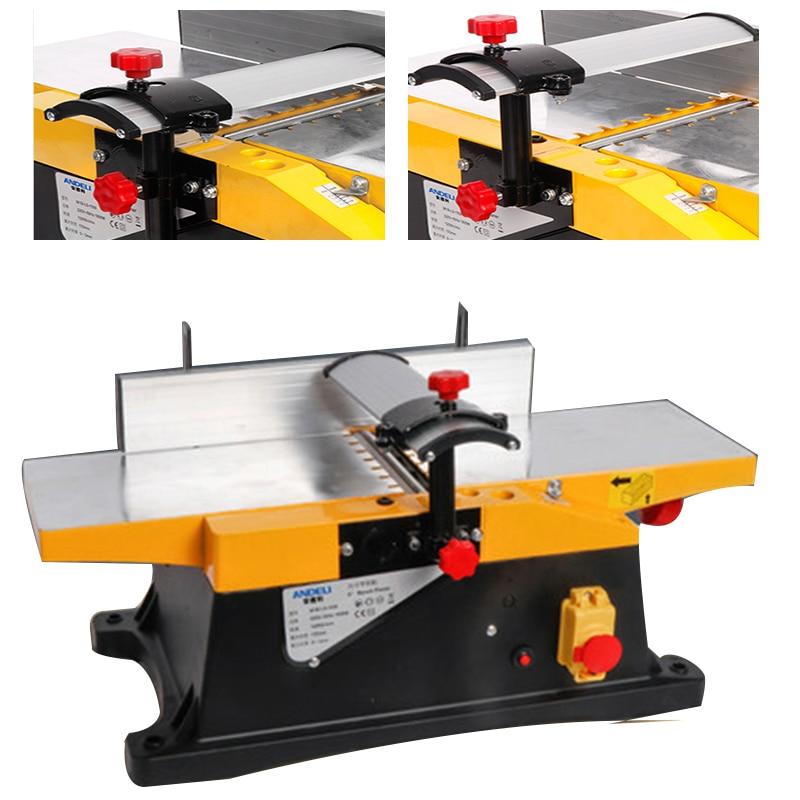 Planing Planer Electric Woodworking Center Bench Household Lane Small Desktop 220v 1800w Six-inch Planer Wood Planing width150MM
