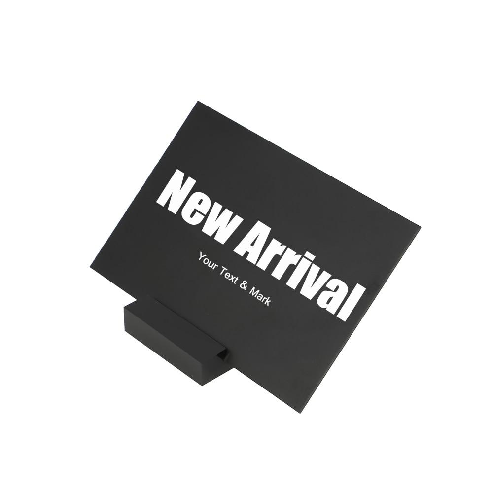 Картон черная доска стенд ПВХ Пластик карты грифельная доска стенд знак мини доска настольная подставка Добро пожаловать панель сообщений