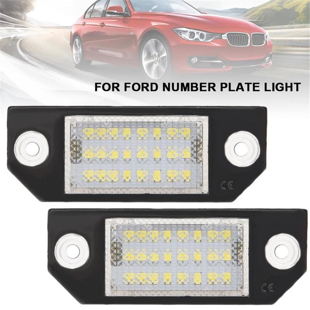 2 uds luces de LED para placa de matrícula Color blanco puro para Ford Focus C-MAX MK2 03-08 s-max Escape Fusion C-MAX Focus