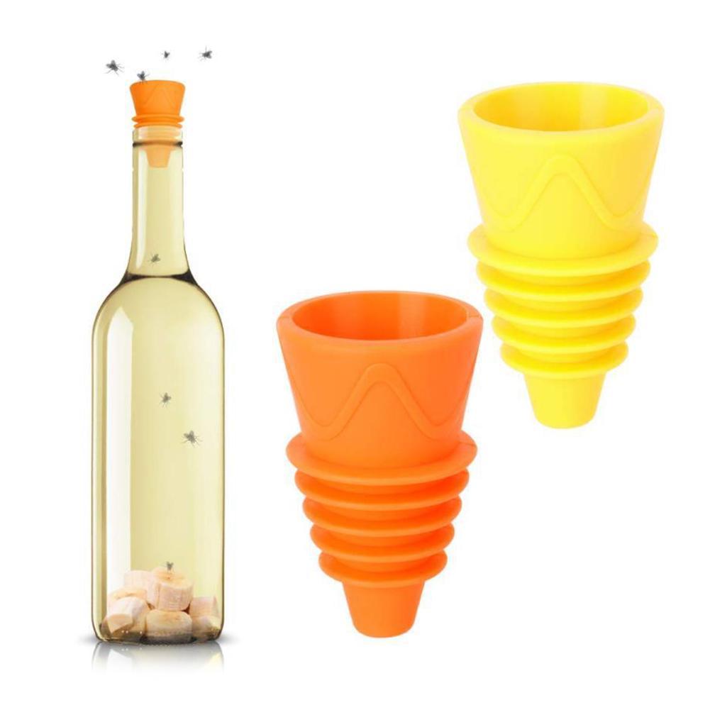 Herramienta para recoger trampas para moscas, reutilizable, de silicona, para interiores, exteriores, de Kithchen, 4/6/8 Uds.