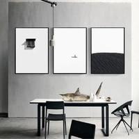 Minimaliste Simple noir blanc mode Style toile impression peinture nordique decor a la maison salon mur Art