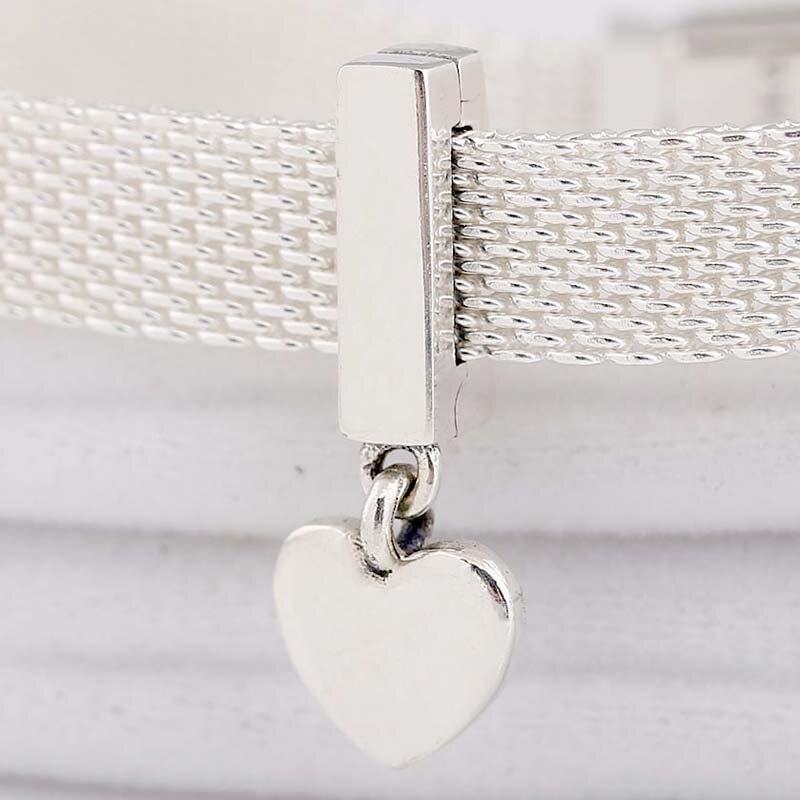 Original Reflexions Floating Heart Clip Pendant Beads Fit 925 Sterling Silver Bead Charm Pandora Bracelet Bangle Diy Jewelry
