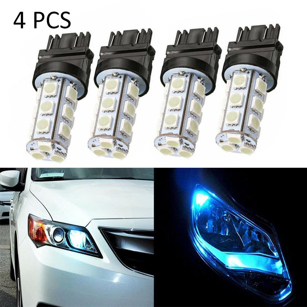 4 Uds., luz de freno trasera LED T25 18 SMD 3157 3156, luz de retroceso de marcha atrás, bombillas de freno de coche, luces traseras de señal de giro