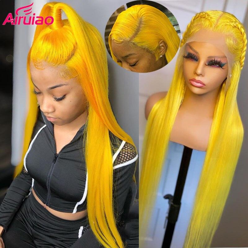 اللون الأصفر 613 شقراء الدانتيل شعر مستعار أمامي 40 بوصة طويلة شعر طبيعي مفرود الباروكات للنساء كامل HD شفاف أمامي preplcuted