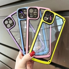 Luxury Transparent Phone Case For Apple iPhone 11 12 Pro Max mini SE 2020 X XR XS Max 7 8 Plus Camer