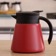 Carafe à café thermique en acier inoxydable 600ml   Thermos Carafes Double paroi pour la maison, le bureau, pour garder les boissons chaudes, rouges, noires, blanches