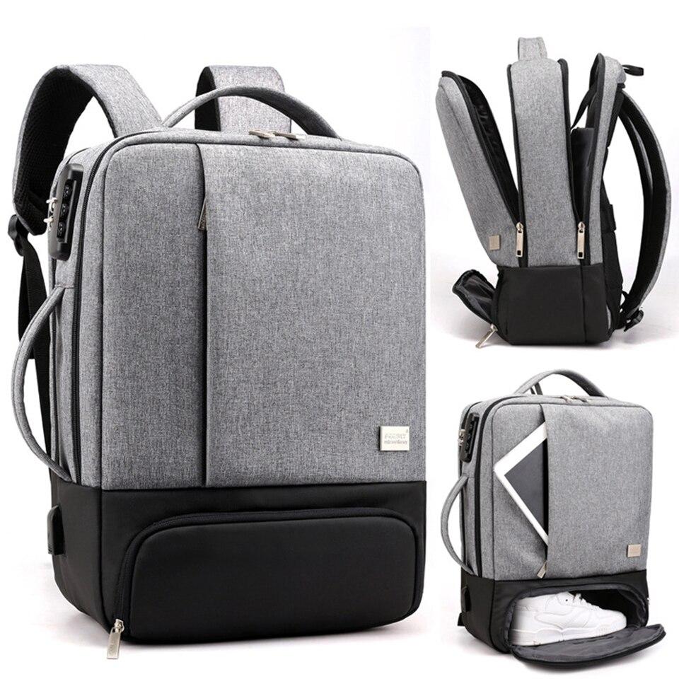 "Shujin mochila para laptop 17 7/8 ""masculina, mochila para laptop antirroubo mala de viagem para escritório e mulheres"