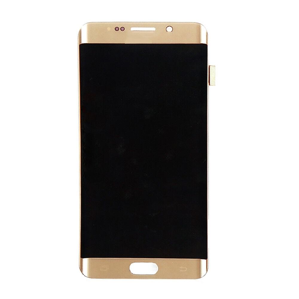 الأصلي 5.7 ''AMOLED LCD لسامسونج غالاكسي s6 حافة زائد G928 G928F شاشة تعمل باللمس عرض محول الأرقام مع خط أو نقطة سوداء