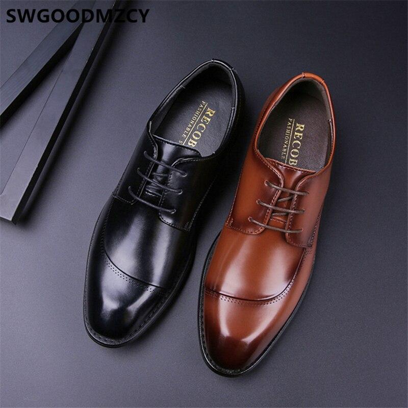 Zapatos formales de Piel auténtica para Hombre, calzado de boda, Oxford, italiano,...