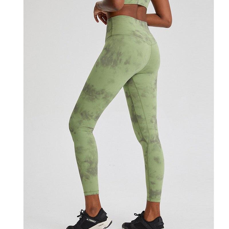 Pantalones de Yoga de camuflaje Lulu, calzas largas de diseño colorido