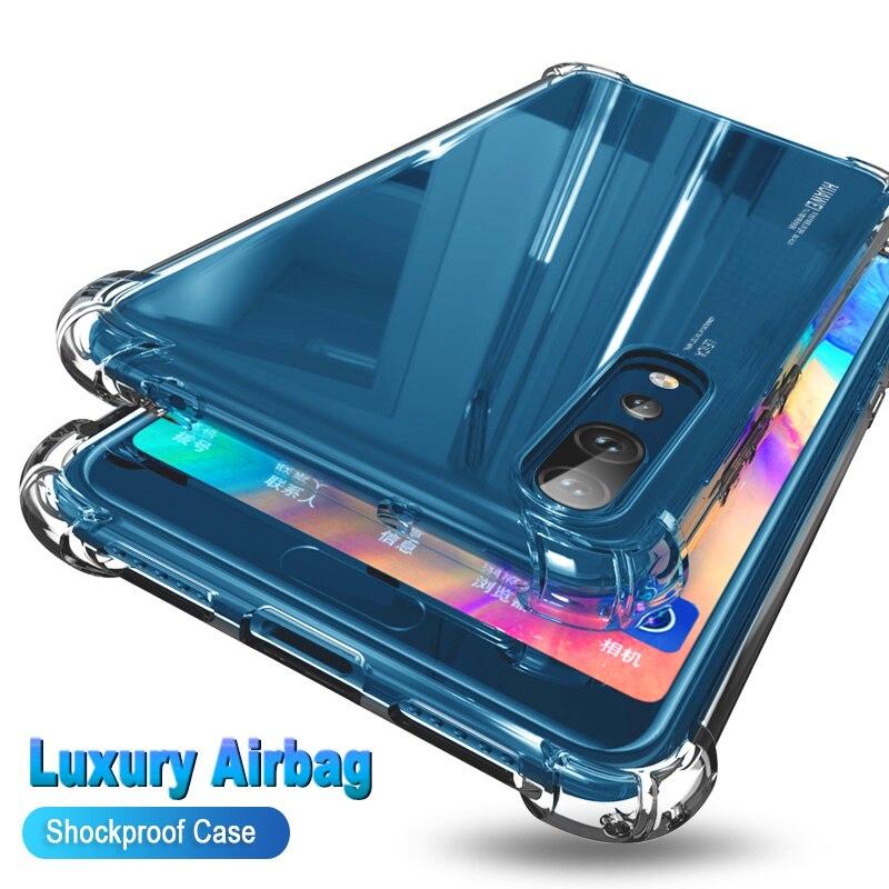 A prueba de golpes a prueba transparente caja del teléfono de silicona para VIVO V17 S1 V11 Y9S V15 X21S V11I Z3I Z3 Pro protección transparente cubierta