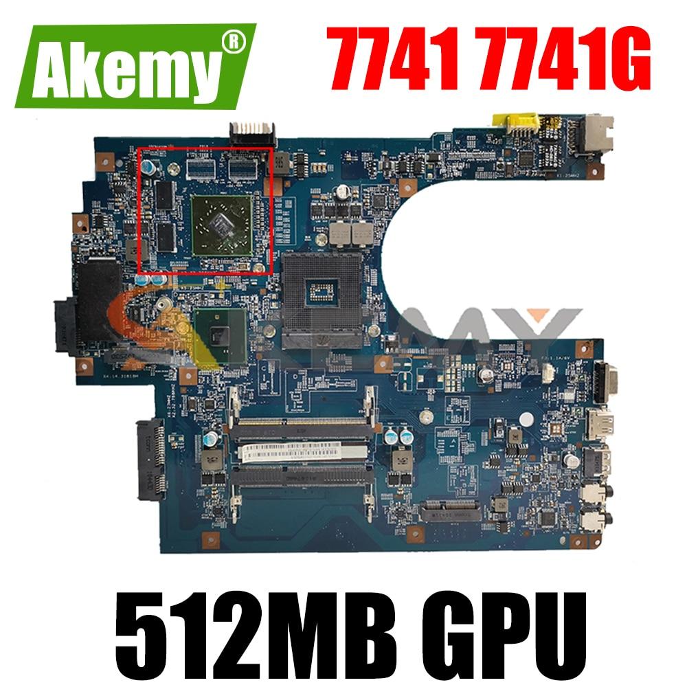 AKEMY JE70-CP MB 09923-1M 48.4HN01.01M MBN9Q01001 لوحة الأم للكمبيوتر المحمول لشركة أيسر أسباير 7741 7741G HM55 512MB GPU يعمل