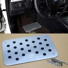 Hyundai-ix35 ix25 i30 Verna Accent Elantra Tucson avec logo   Tapis de sol en aluminium, plaque de tapis, pédale de pied