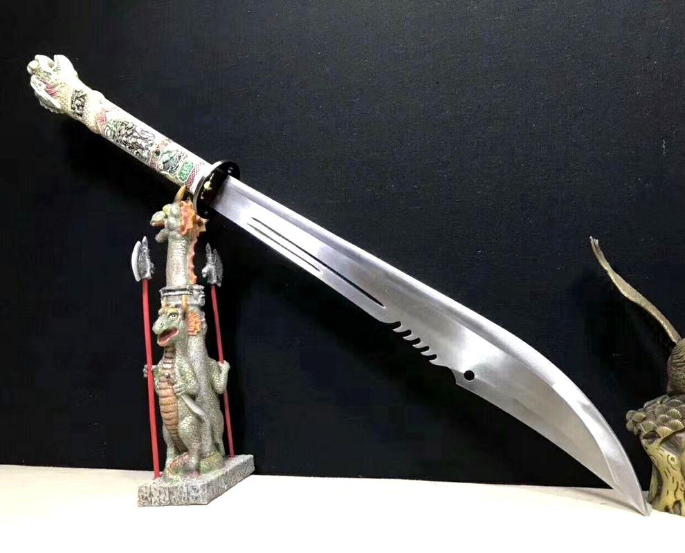 Espada WUSHU Broadsword DAO glaive falchion espada de acero de manganeso cuchillo-borde mango de dragón